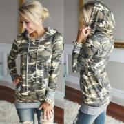 Women's Camo Graphic Hooded Pullover Sweatshirt