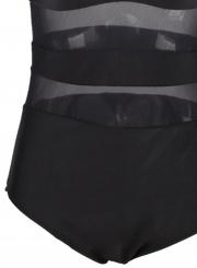 86ea63b675 Beautiful Plus Size Mesh Paneled Bralette Swimsuit - STYLESIMO.com