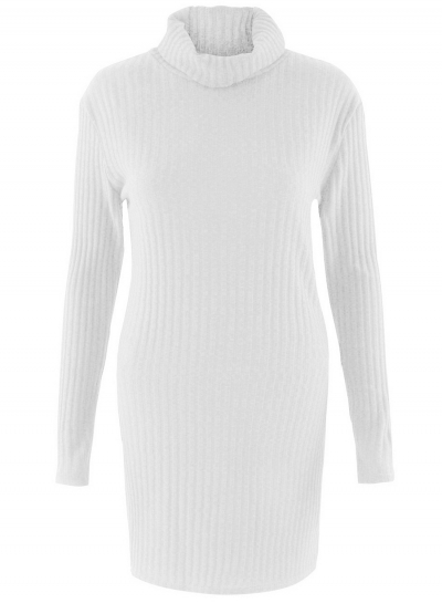 fb0cbd51609 Fashion Long Sleeve Casual High Neck Striped Knit Sweater Dress  stylesimo.com