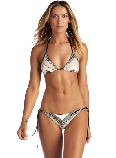 Sexy Breathable Brief Hot Triangle Top Halter Neck Bikini Swimwear