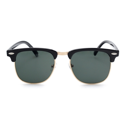 Women\'s Casual Wooden Retro Metal Large Frame Square Sunglasses ...