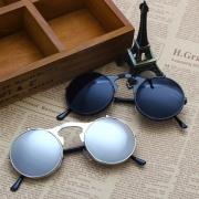 9a155d8f9f ... Women s Fashion Retro Flip Up Round Circle Lens Stempunk Sunglasses ...