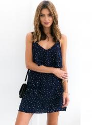 Charming Sleeveless Spaghetti Strap V Neck Backless Short Day Dress