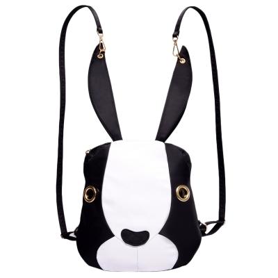 Women's Lovely Rabbit Zipper Shaped Backpack