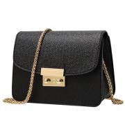 Women's PU Leather Cross Chain Shoulder Flap Bag
