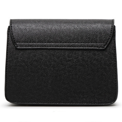 Women's PU Leather Cross Chain Shoulder Flap Bag stylesimo.com