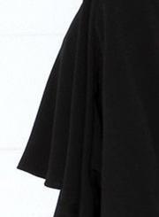 Sleeveless Crew Neck Backless Cloak Bodycon Dress