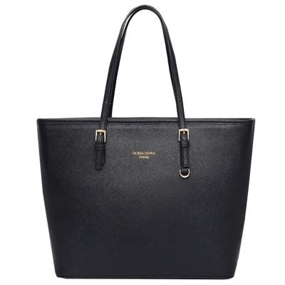Women's Zipper PU Leather Tote Shoulder Bag