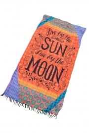Enjoy Sun and Moon Beach Towel Blanket