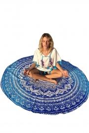 Ocean Round Mandala Tapestry