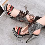 Women's Lace up Stiletto Heels Pattern Sandals