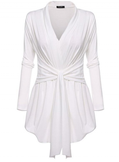 Women's Solid Cover up Cardigan Blouse STYLESIMO.com