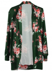 Women's Fashion Long Sleeve Floral Open front Cardigan