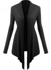 Women's Long Sleeve Open front Irregular Knit Cardigan