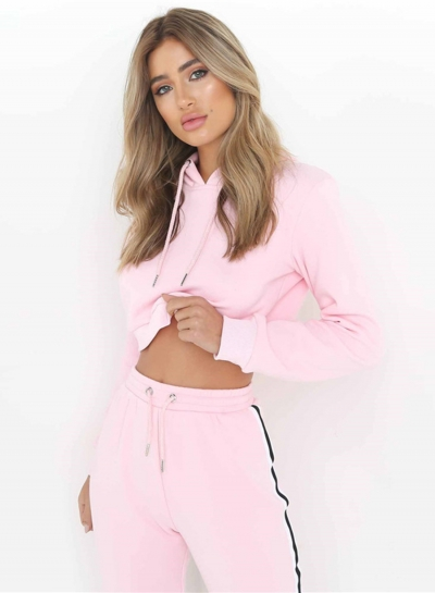 Women's Fashion Hooded 2 Piece Sweat Suit