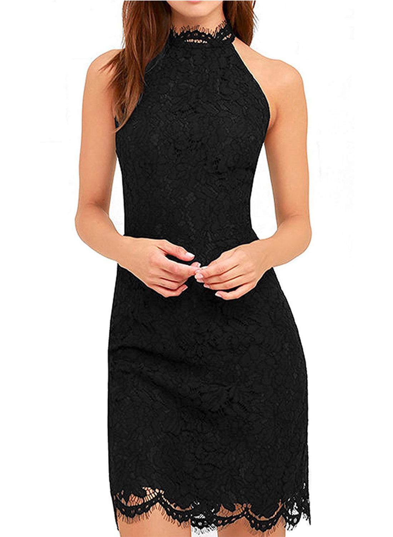 f5df11b6a31f3c Women s Fashion off Shoulder Sleeveless Lace Bodycon Dress STYLESIMO.com. Loading  zoom