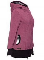 Women''s Maternity Kangaroo Long Sleeve Solid Hoodies