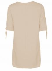 Women's Round Neck Half Sleeve Solid Mini Dresses