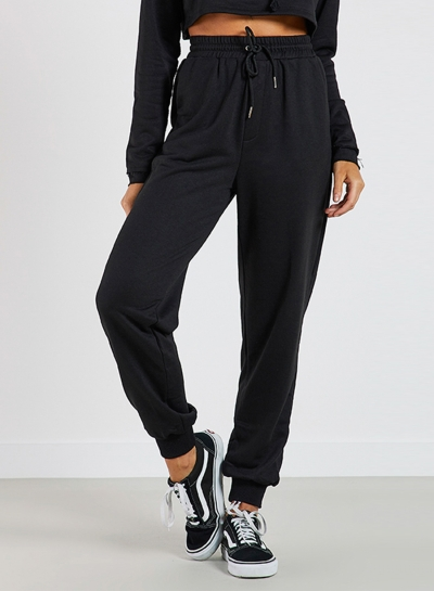 Women's Solid Drawstring Waist Sweat Pants