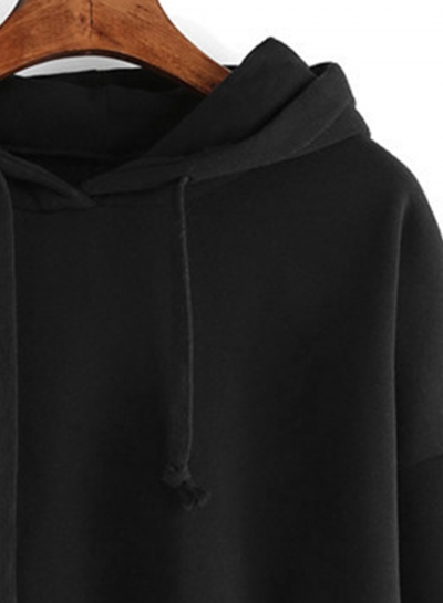 Women's Casual Long Sleeve Solid Color Hoodies stylesimo.com