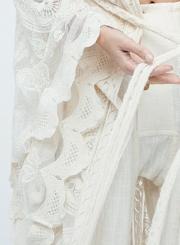 Bohemian Lace Long Sleeve Open Front Kimono