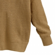 Fashion V Neck Back knot Loose Fit Sweater