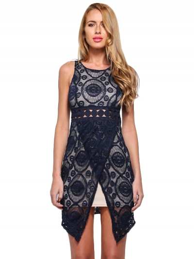 Fashion-conscious Lace Mini Dress