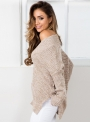 women-s-v-neck-long-sleeve-solid-slit-knit-sweater