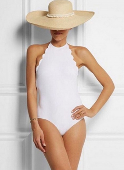 Halter Backless Slim Fit One Piece Swimsuit
