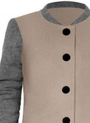 Single Breasted Color Block Coat