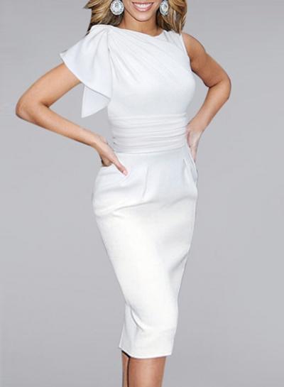 One Shoulder Bodycon Party Dress STYLESIMO.com