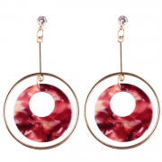 Fashion Round Circle Shape Colorful Earrings