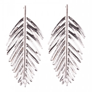 Fashion Leaf Shape Solid Color Earrings