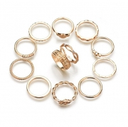 Casual Alloy Twelve Ring Set Fashion Ring