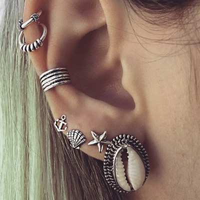 Fashion Vintage Shell Design Sets Earrings
