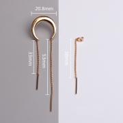 Fashion Moon Design Tassels Decoration Earrings