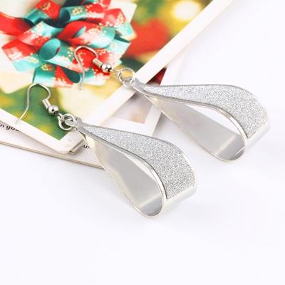 Fashion Sequins Decoration Solid Color Drop Earrings