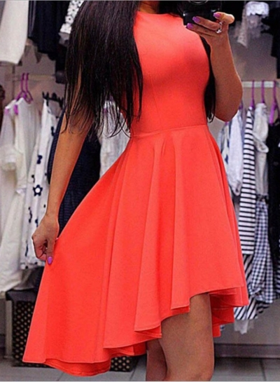 Sleeveless High Low Party Dress