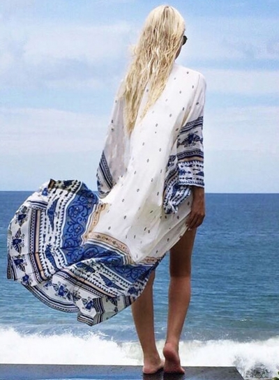 Open front Longline Bikini Cover ups