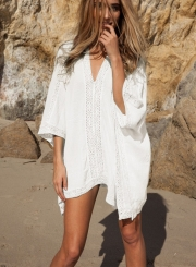 Batwing Sleeve Loose Fit Bikini Cover ups Dress