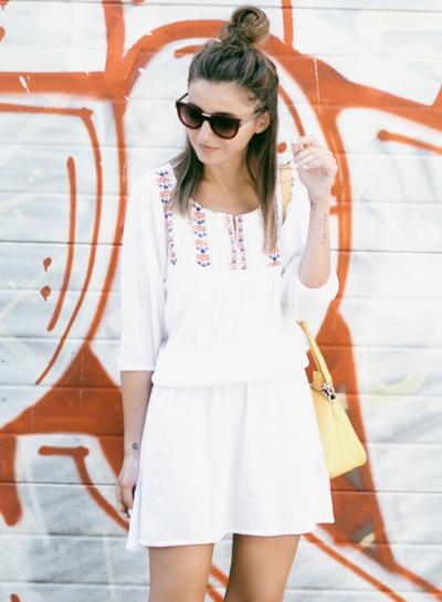 3/4 Sleeve Elastic Waist Cover up Dress