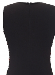 Fashion V Neck Sleeveless Sequins Bodycon Cocktail Dress