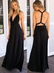 Sleeveless Multi-way Maxi Prom Dress