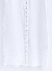 Fashion Sleeveless Button front Bodycon Tank Dress