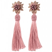 Fashion Diamonds Decoration Dangle Flower Earrings
