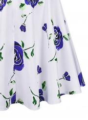 Fashion High Waist Floral A-line Skirt
