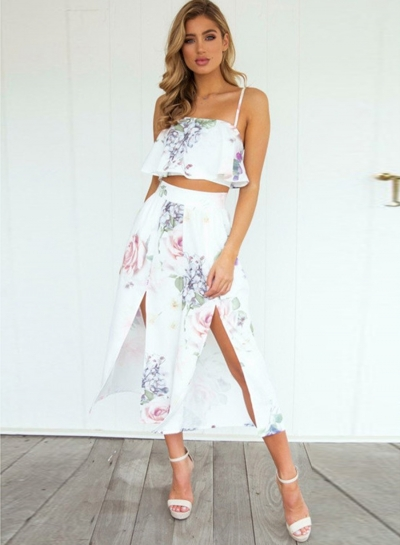 Women's Fashion floral dress outfit