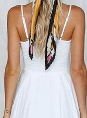 Fashion Spaghetti Strap V Neck High Waist Dress