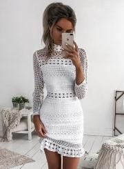 Long Sleeve Lace Bodycon Mini Dress