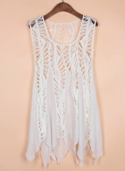 Fashion Sleeveless Lace Bikini Cover up Tank